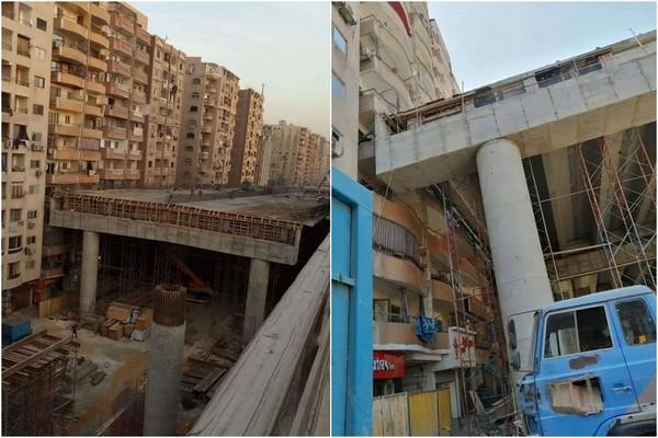 Ai Cập làm đường cao tốc trên cao cách chung cư hai bên chỉ 50cm