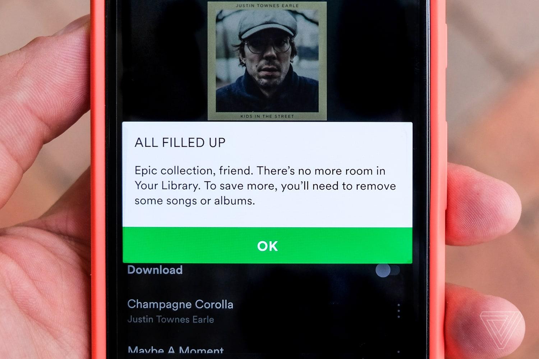 """Spotify cuối cùng cũng """"chịu"""" bỏ giới hạn 10.000 bài hát với thư viện nhạc của người dùng"""