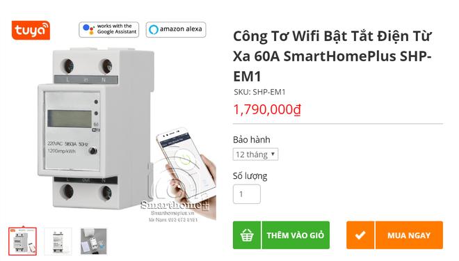 """""""Nhức túi"""" với tiền điện, nhiều người mua công tơ điện có wifi điều khiển bằng giọng nói"""