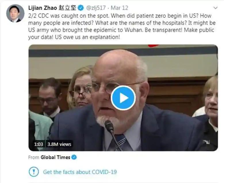 Trước ông Trump, Twitter từng dán nhãn bài đăng của người phát ngôn Trung Quốc