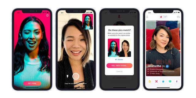 Tinder giới thiệu tính năng xác minh qua ảnh, người dùng yên tâm hẹn hò