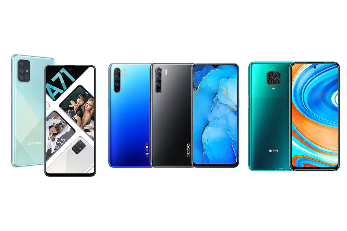 Đọ cấu hình Galaxy A71, Oppo Reno3 và Redmi Note 9 Pro