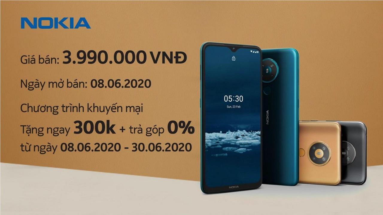 Nokia 5.3 ra mắt tại Việt Nam: Snapdragon 665, pin 4000 mAh, 4 camera, cam kết cập nhật lên Android 11, giá 4 triệu đồng