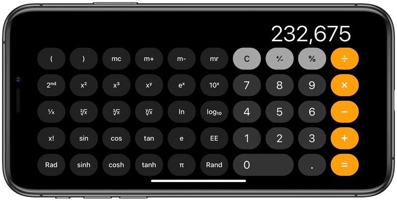 5 mẹo hay khi sử dụng ứng dụng Máy tính trên iPhone