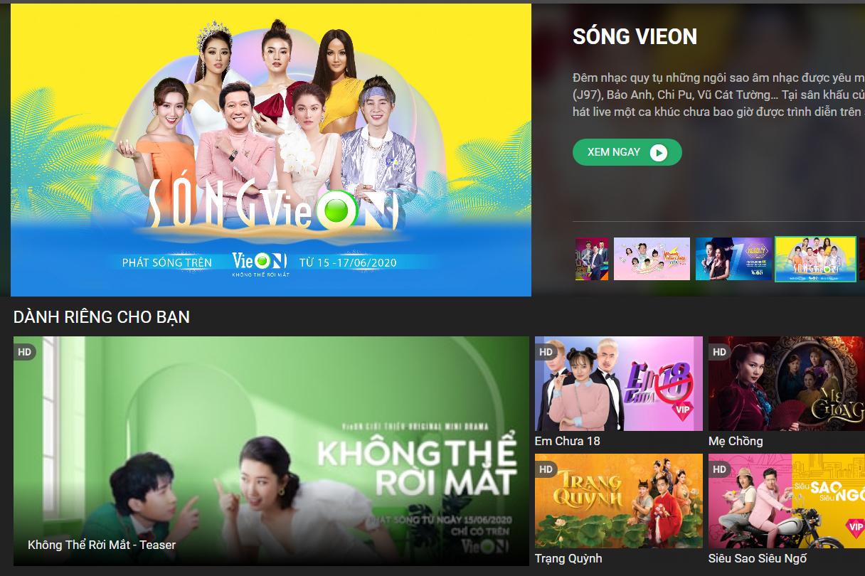 """""""Sàn đấu"""" truyền hình OTT tại Việt Nam có thêm tân binh VieON: Lấy show giải trí, người nổi tiếng, phim bản quyền làm vũ khí"""
