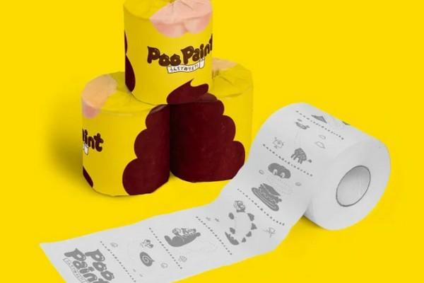 Giấy vệ sinh đặc biệt của người Nhật cho phép dùng phân để tô màu… cho vui