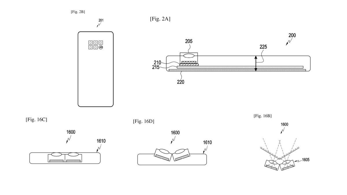 Samsung có thể đang phát triển các cảm biến camera nghiêng cho smartphone