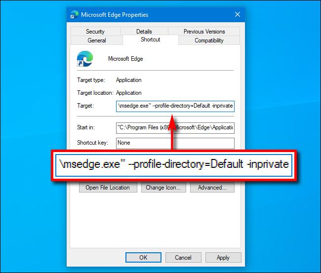 Mách bạn cách luôn mở Microsoft Edge trong chế độ duyệt web ẩn danh (InPrivate) trên Windows 10