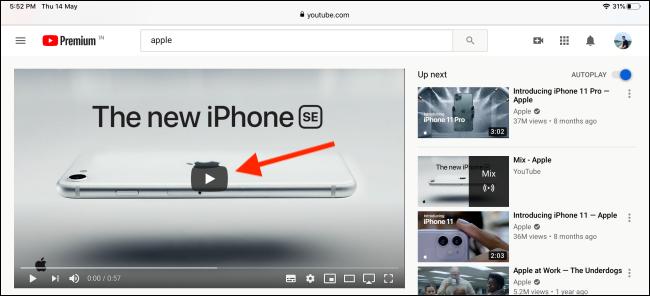 Cách để sử dụng tính năng Picture-in-Picture cho YouTube trên iPad