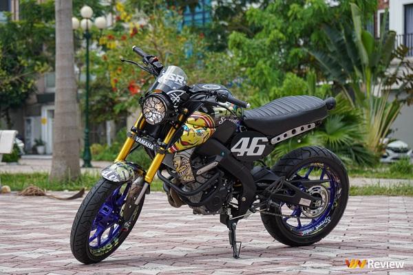 Chi tiết Yamaha MT-15 biến hình phong cách Tracker