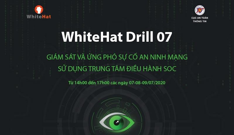 Hơn 100 đơn vị tham gia Diễn tập An ninh mạng WhiteHat Drill 07