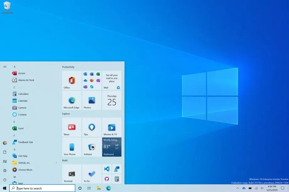 Microsoft công bố thiết kế menu Start mới cũng như cập nhật giao diện Alt-Tab cho Windows 10