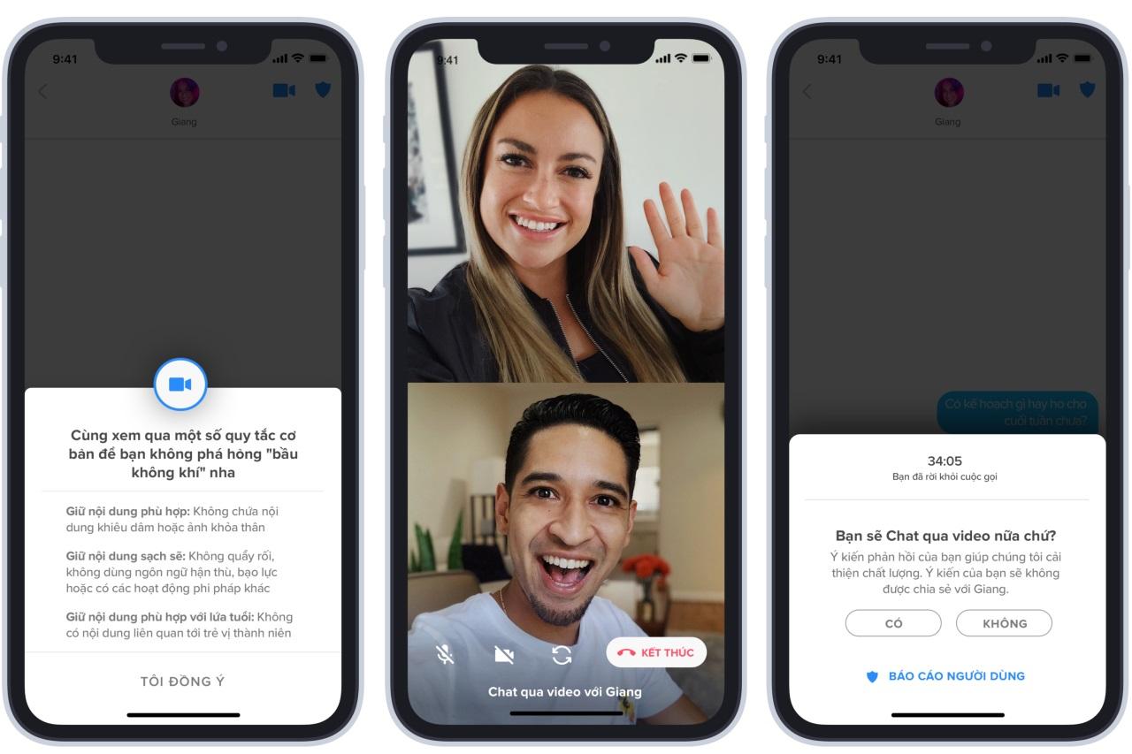 Tinder thử nghiệm tính năng gọi video call mặt đối mặt tại Việt Nam và 12 nước khác