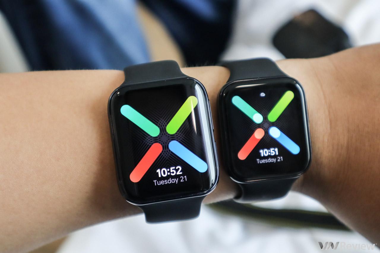 Trên tay Oppo Watch chính hãng: dáng giống Apple Watch, nghe gọi như điện thoại