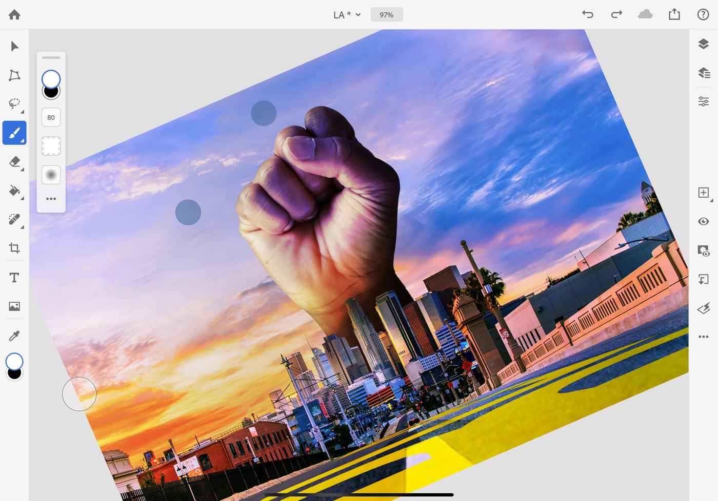 Ứng dụng Photoshop trên iPad có thêm loạt tính năng mới