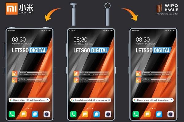 Xiaomi đăng ký bằng sáng chế thiết kế smartphone tích hợp tai nghe không dây