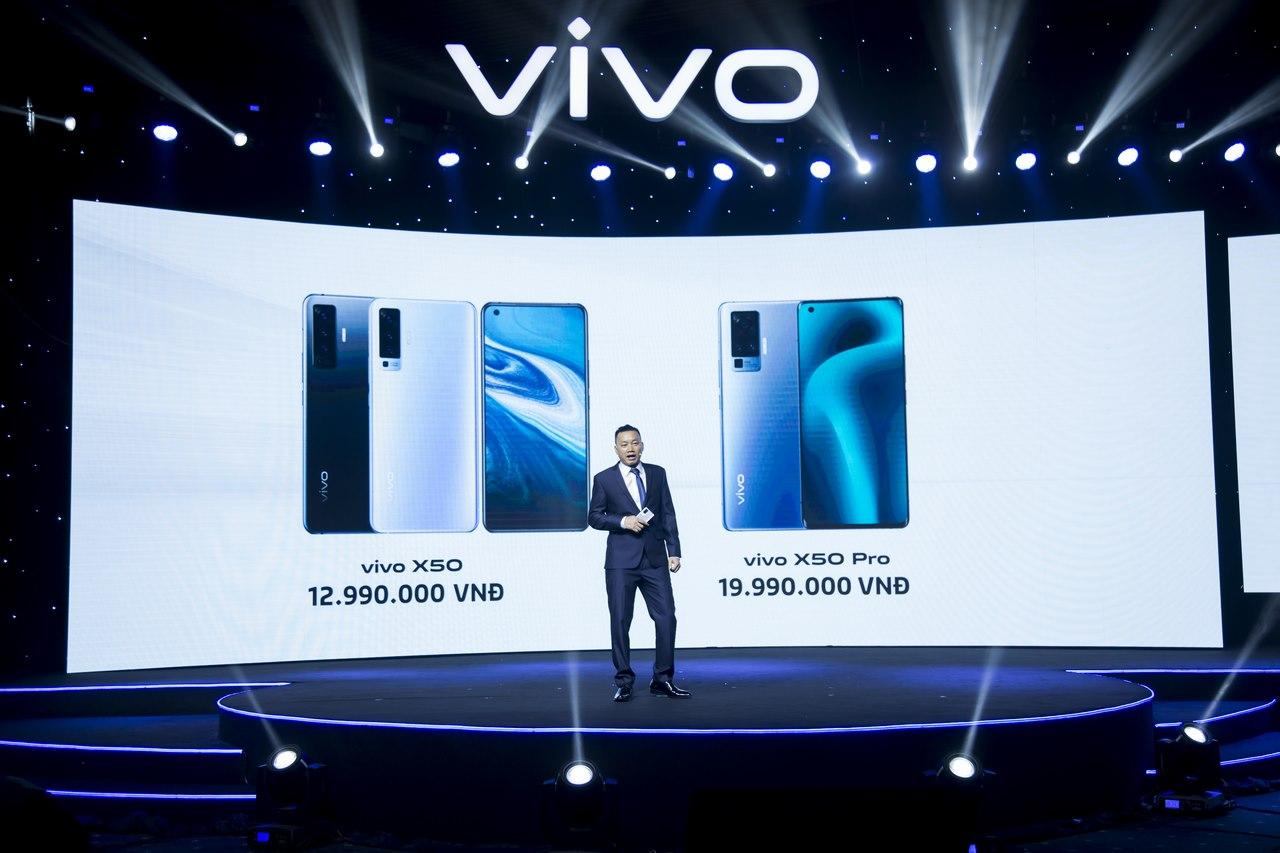 vivo trình làng bộ đôi X50 và X50 Pro tại Việt Nam: camera gimbal, màn hình 90Hz, có 5G, giá từ 13 triệu đồng