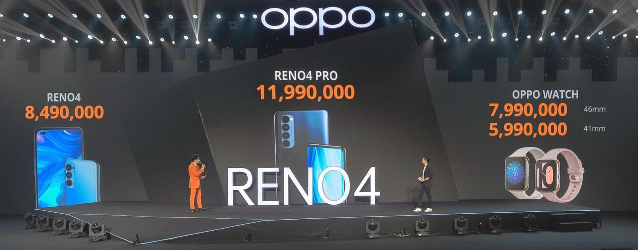 Oppo Reno4, Reno4 Pro và Oppo Watch ra mắt ở Việt Nam, giá từ 5,99 triệu đồng