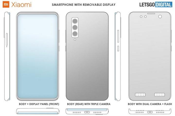 Quên pin rời đi, Xiaomi vừa thiết kế một chiếc điện thoại có màn hình có thể tháo rời