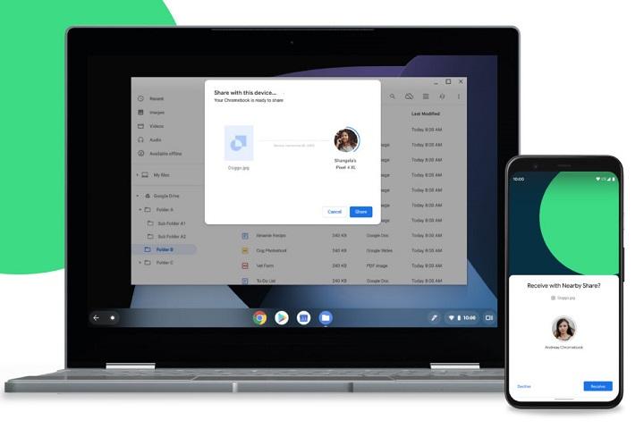 Phiên bản AirDrop trên Android, Nearby Share, đã chính thức xuất hiện