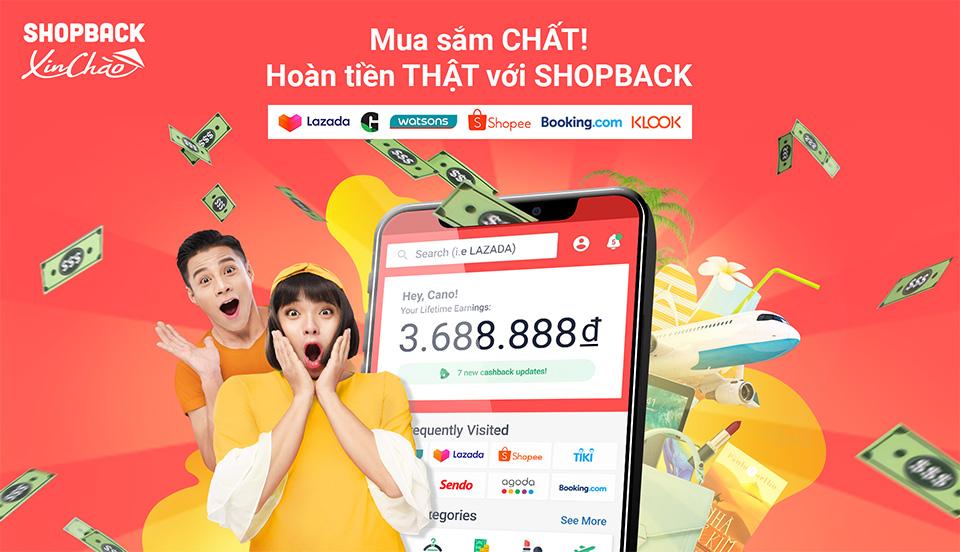 Nền tảng hoàn tiền mua sắm ShopBack chính thức ra mắt tại Việt Nam