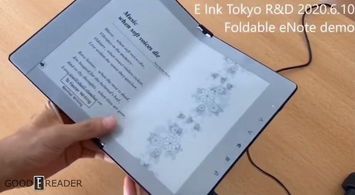 E Ink biểu diễn máy đọc sách điện tử màn hình gập, có thể ghi chú thẳng lên màn hình