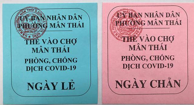 Đà Nẵng tiếp tục cách ly xã hội, người dân được phát thẻ đi chợ theo ngày chẵn, lẻ