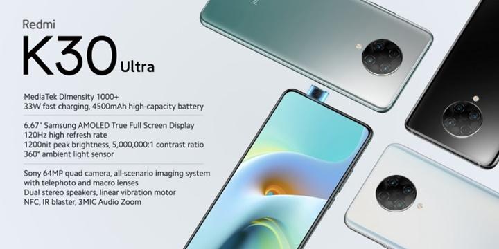 Redmi K30 Ultra trình làng với màn hình 120Hz, chip Dimensity 1000+