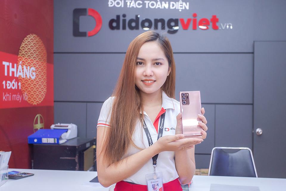 Trade-in miễn phí lên đời Galaxy Note 20 tại Di Động Việt