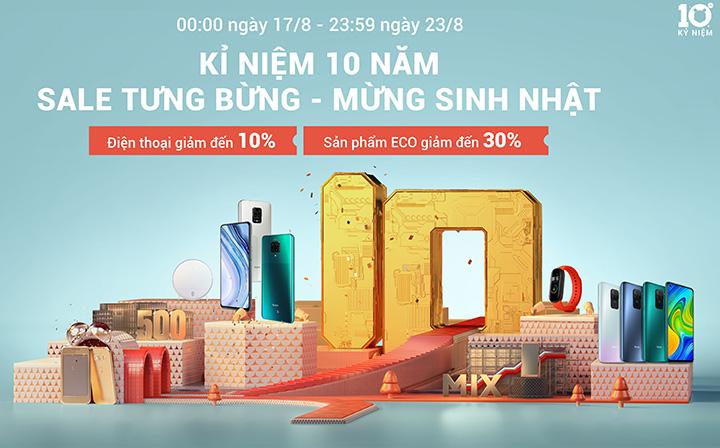 Xiaomi giảm giá 10% hàng loạt sản phẩm ở Việt Nam từ 17-23/8