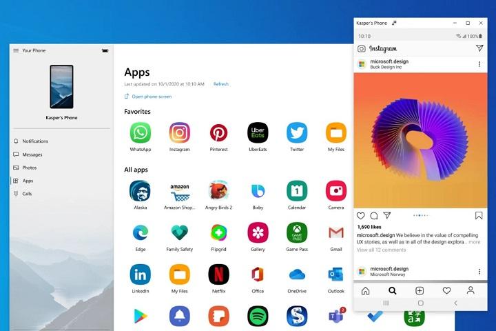 Cách chạy ứng dụng điện thoại Samsung trên Windows 10