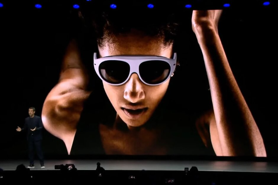 Đây chính là ngoại hình của thiết bị kính thông minh AR từ Samsung
