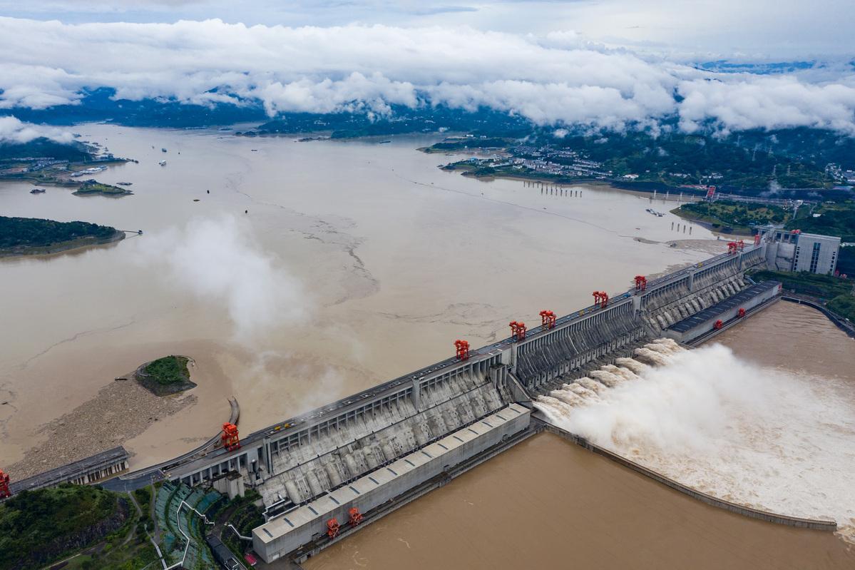 Hình ảnh đập Tam Hiệp Trung Quốc chống đỡ đỉnh lũ lớn nhất