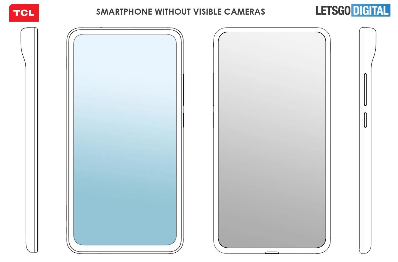 TCL đăng ký sáng chế thiết kế smartphone có cảm biến camera vô hình