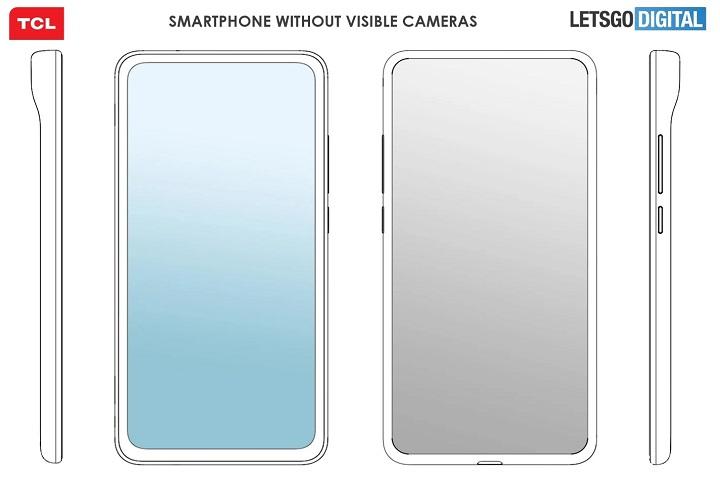 """TCL đăng ký sáng chế thiết kế smartphone có """"cảm biến camera vô hình"""""""