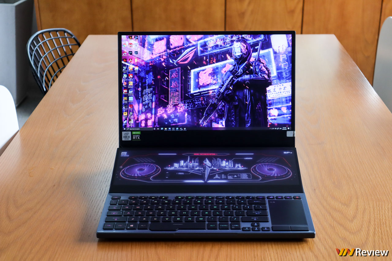 """Trên tay Asus ROG Zephyrus Duo 15: Laptop gaming 2 màn hình """"cực dị"""", cấu hình"""