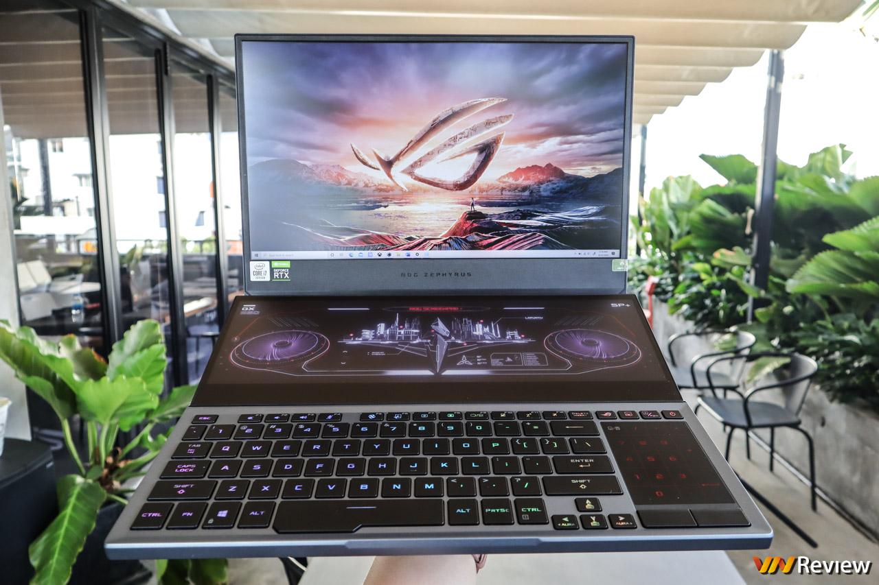"""Trên tay Asus ROG Zephyrus Duo 15: laptop gaming 2 màn hình """"cực dị"""", giá 120 triệu đồng"""