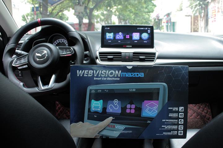 """Webvision ra mắt màn hình """"cấu hình khủng"""" dành riêng cho xe Mazda ở VN"""