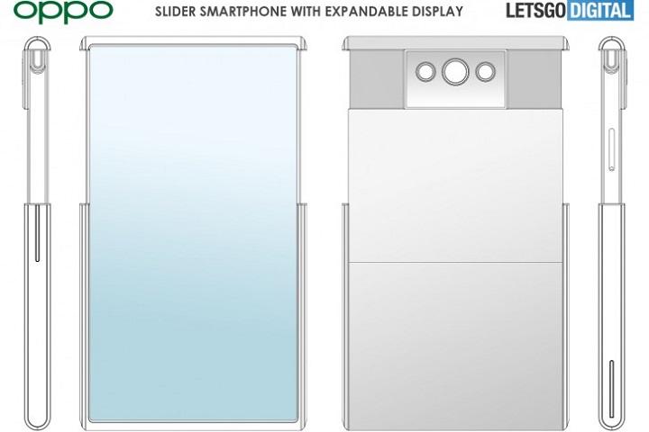 Oppo đăng ký bằng sáng chế điện thoại trượt, có thể mở rộng màn hình