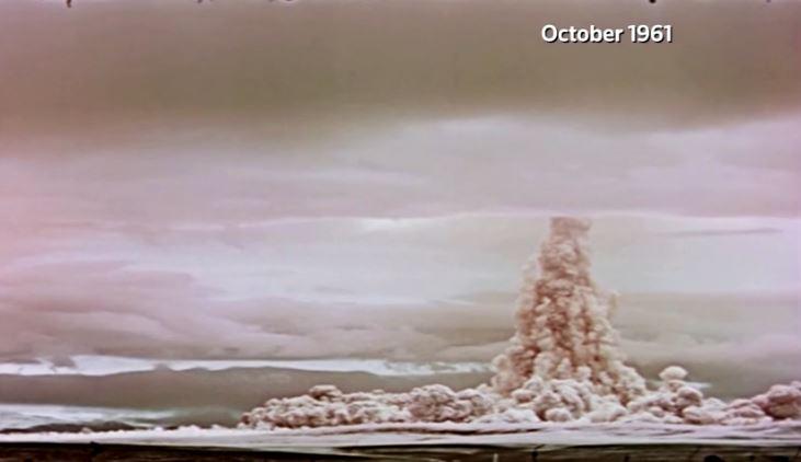 Nga công bố hình ảnh vụ nổ bom mạnh nhất trong lịch sử nhân loại Tsar Bomba