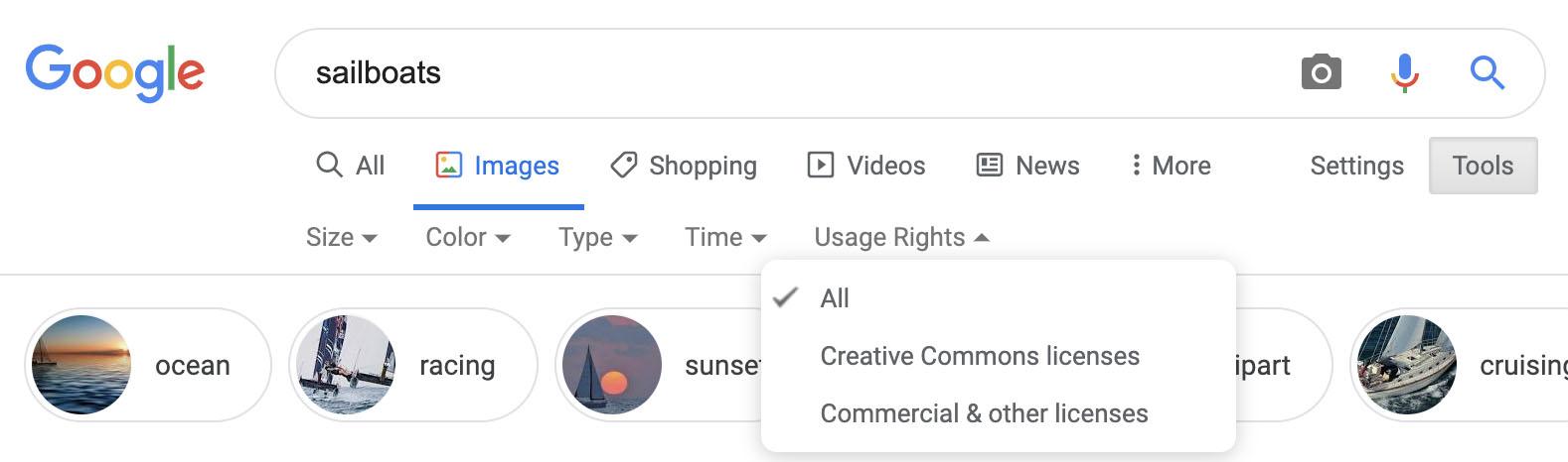 Google Images đánh dấu những hình ảnh