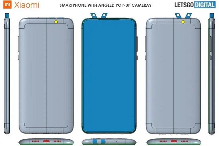 Xiaomi đăng ký bằng sáng chế thiết kế smartphone có các camera bật nghiêng lên