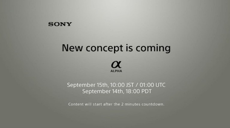Sony hé lộ dòng máy ảnh Alpha