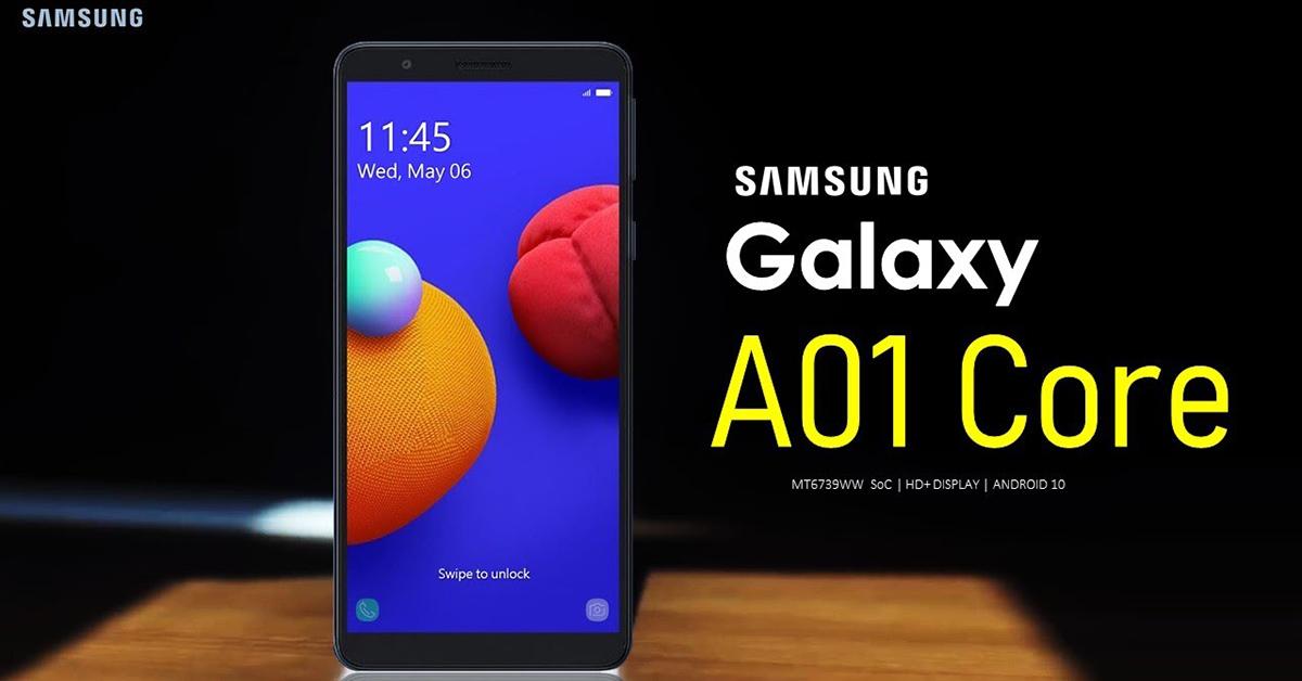 Samsung Galaxy A01 Core 4G giá 1.790.000 đồng, bán độc quyền tại hệ thống Viettel Store