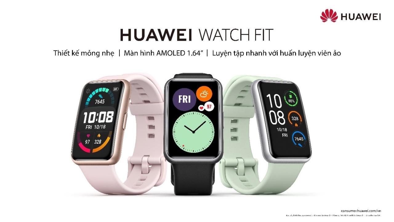 Đồng hồ Huawei Watch Fit ra mắt tại Việt Nam: kiểu dáng hao hao Apple Watch