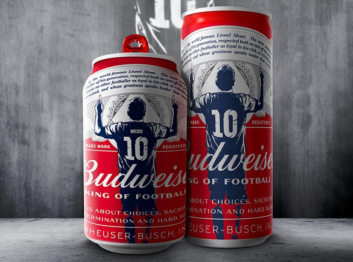 Lionel Messi làm đại sứ thương hiệu bia Budweiser