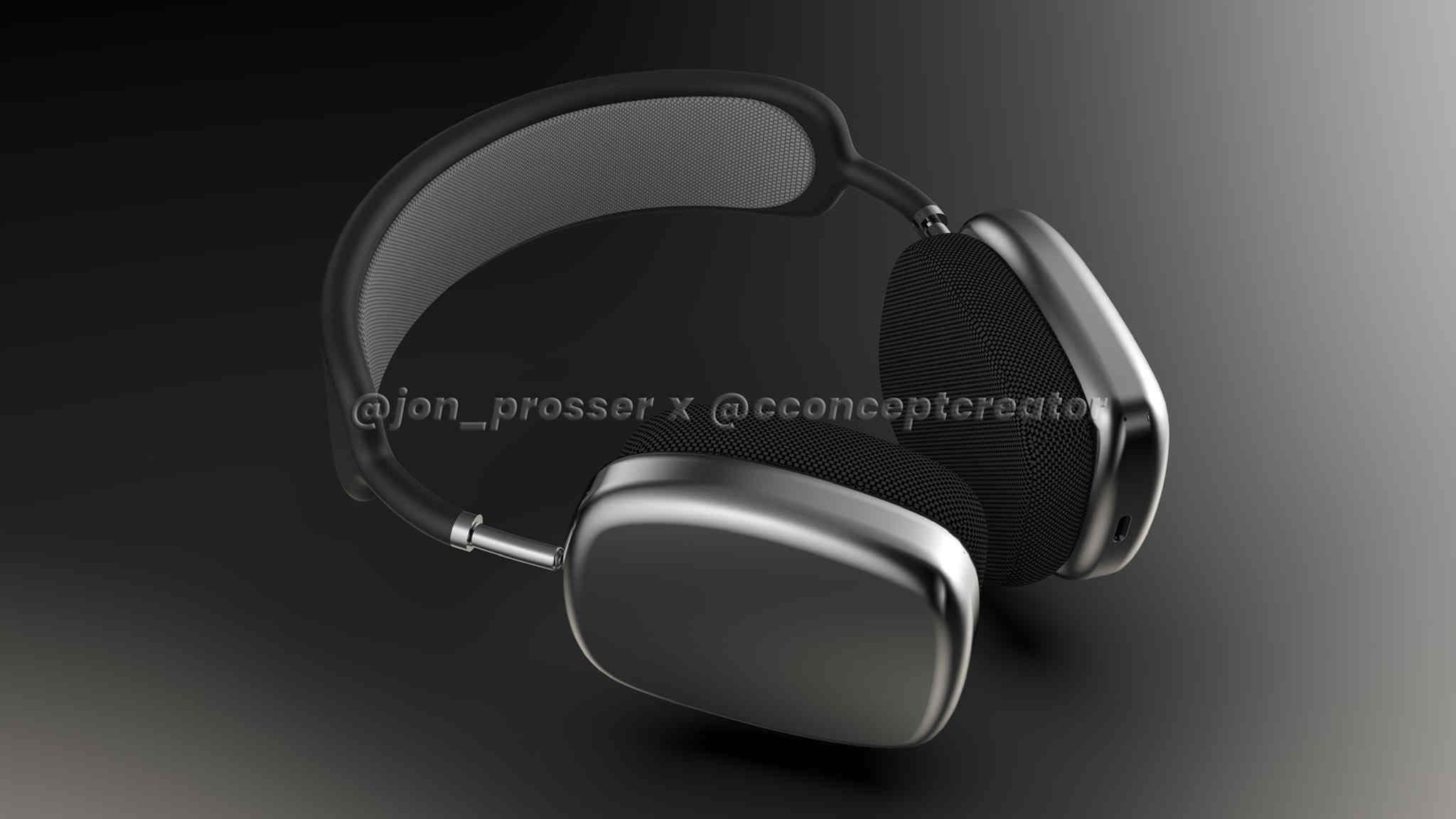 Tai nghe trùm đầu Apple AirPods Studio lộ thiết kế: chất liệu da và kim loại, cổng USB-C