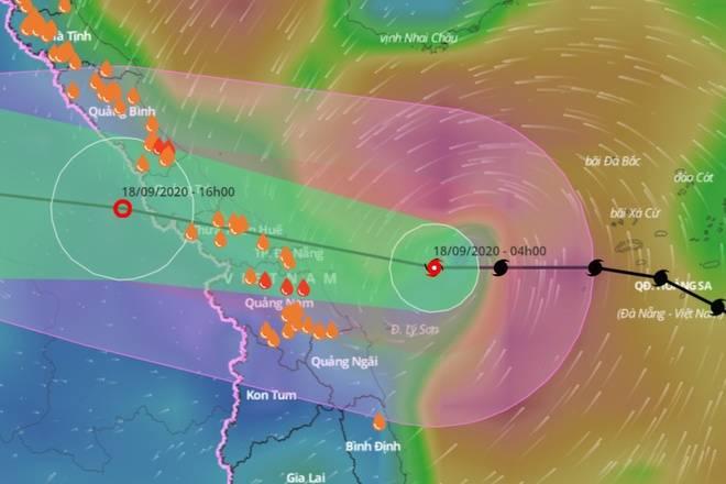 Tin bão số 5 mới nhất: Gió giật cấp 12, đã vào đến biển Quảng Bình - Quảng Nam
