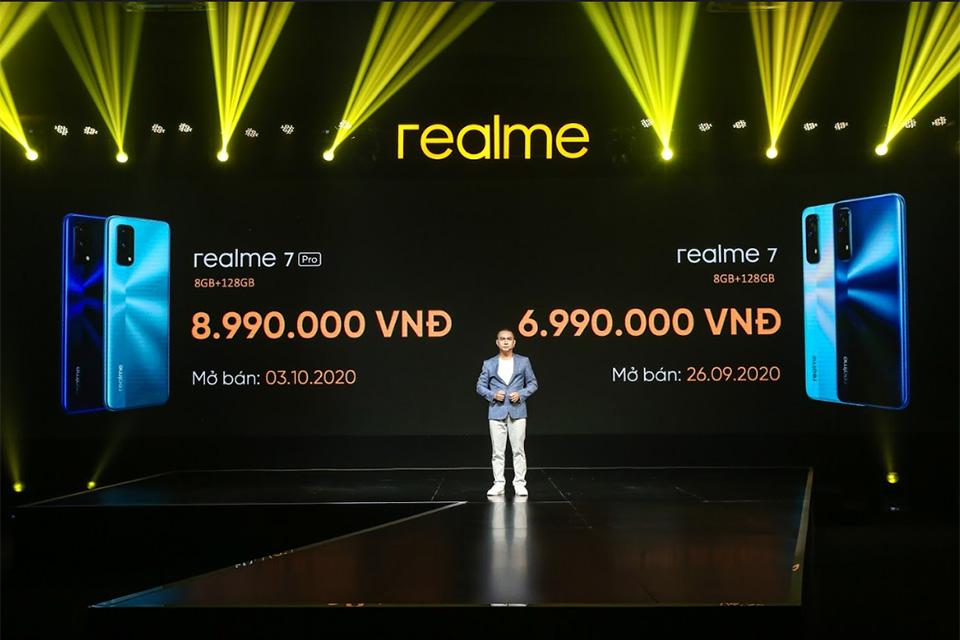 Realme 7 và 7 Pro chính thức bán ở Việt Nam từ 26/9, giá 6,99 và 8,99 triệu đồng