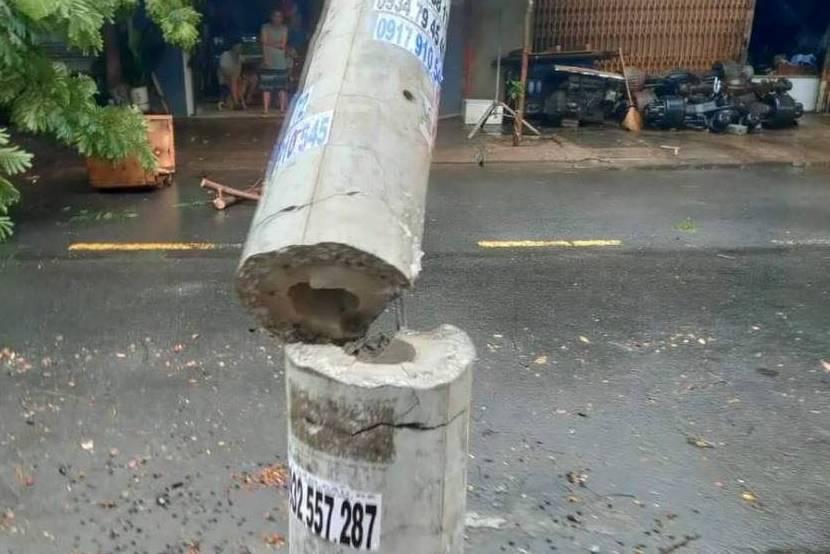 Vì sao cột điện bê tông ly tâm ứng lực ưu điểm vượt trội vẫn bị đổ gãy trong bão?